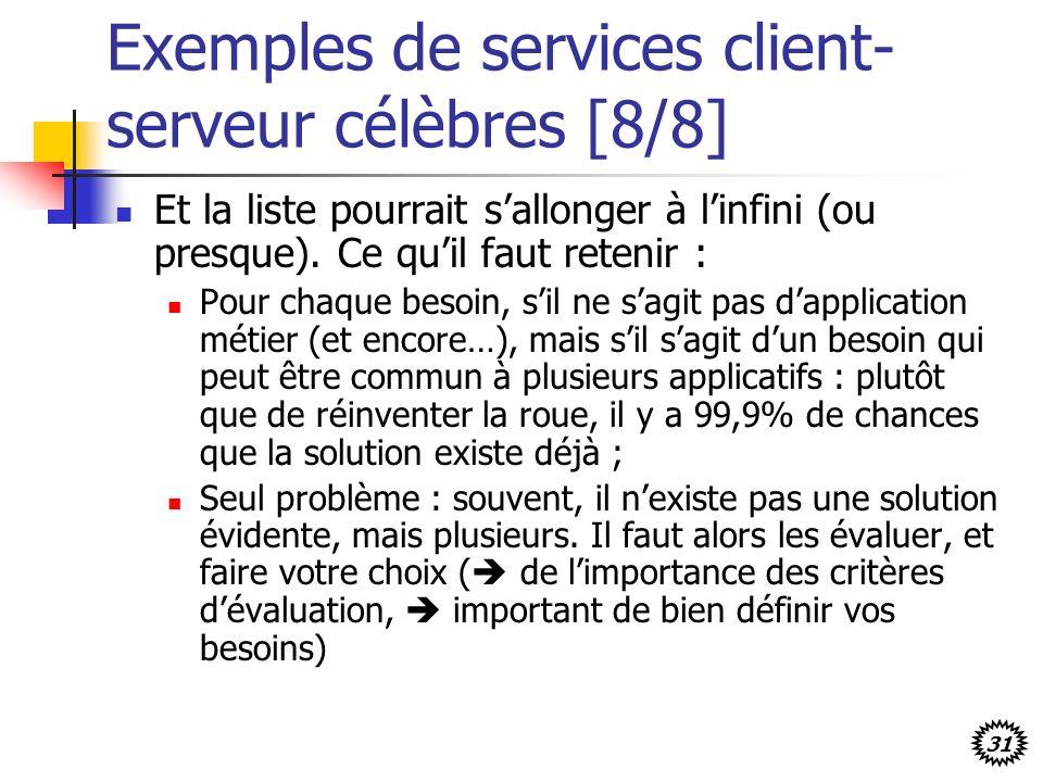 Exemples de services client-serveur célèbres [8/8]